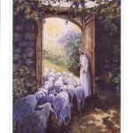 jesus sheep door