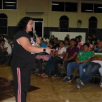 Jannet ministering Refugio Divino youth