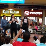 Jannet n Ray ministering at Albrook Mall